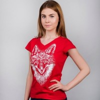 "Женская Футболка ""Red Fox"""