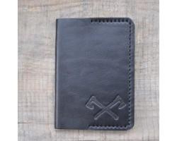 Паспортница из натуральной кожи VARVAR черного цвета